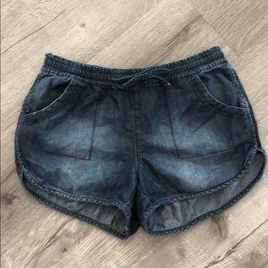 Articles of Society dark chambray style shorts